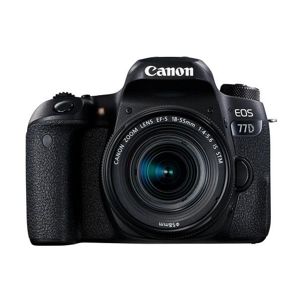 Canon eos 77d cámara réflex 24,2mp + objetivo ef-s18-55mm con wifi y bluetooth