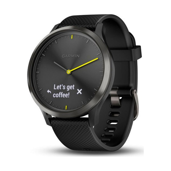 Garmin vivomove hr sport negro reloj inteligente híbrido con control de frecuencia cardíaca y bluetooth