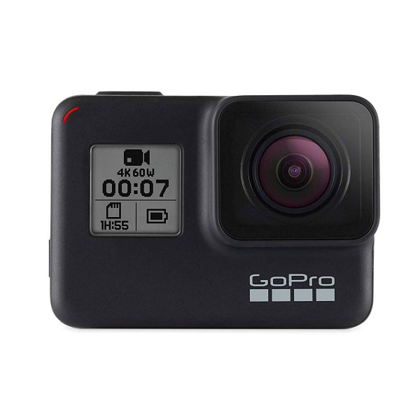 Go pro hero7 black (2018) cámara deportiva 12mp superfoto uhd 4k wifi chip g1 bluetooth gps pantalla táctil y de estado control por voz