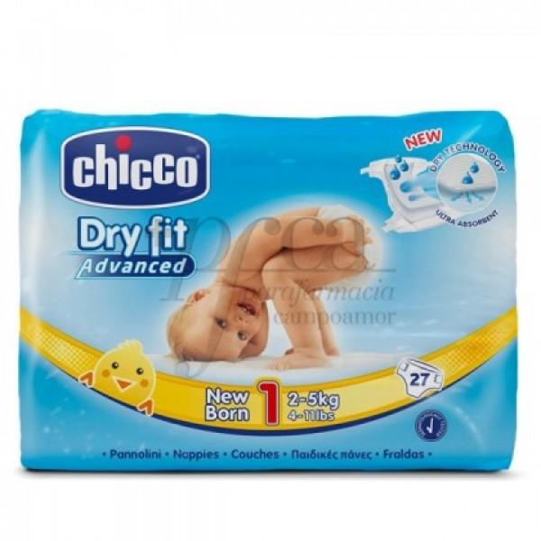 CHICCO PAÑALES DRYFIT T1 2-5KG 27 U