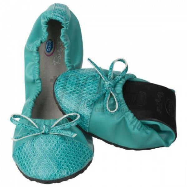 POCKET BALLERINA SCHOLL CROCO 35/36 AQUAMARINE