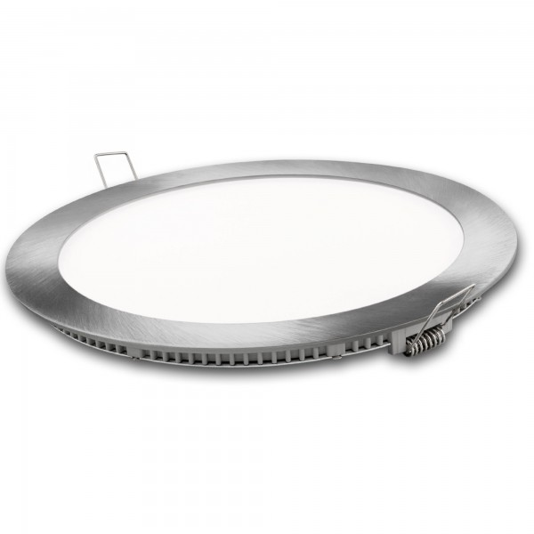 Downlight led redondo plata 12w.fria