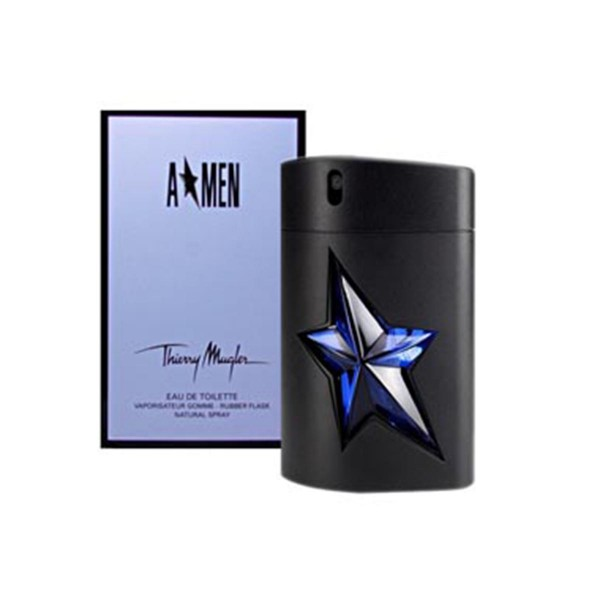 Thierry mugler a*men eau de toilette rubber 100ml recargable vaporizador