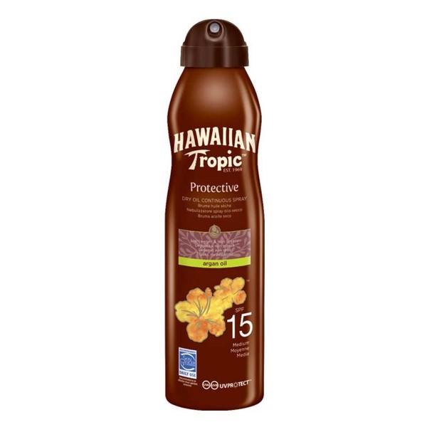 Hawaiian tropic protective dry oil spray brume spf15 177ml