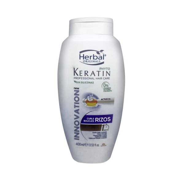 Herbal originals phyto keratin professional hair care rizos express mascarilla 400ml
