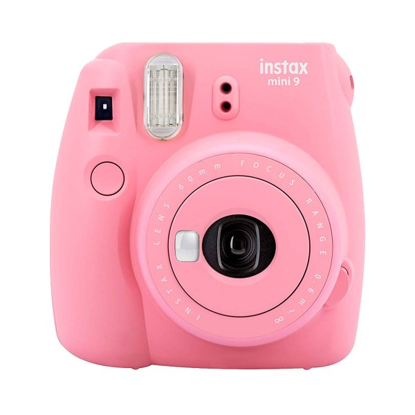 Fujifilm instax mini 9 rosa pastel cámara instantánea con flash