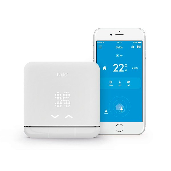 Tado climatización inteligente dispositivo de control del aire acondicionado geolocalización wifi google amazon ifttt