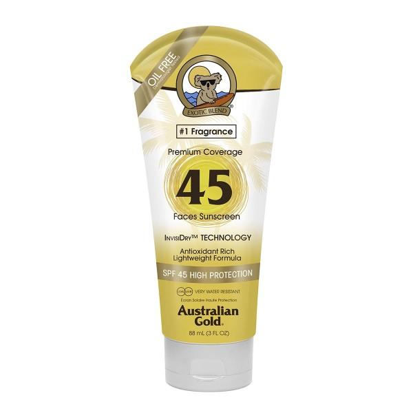 Australian gold premium coverage spf45 face cream 88ml