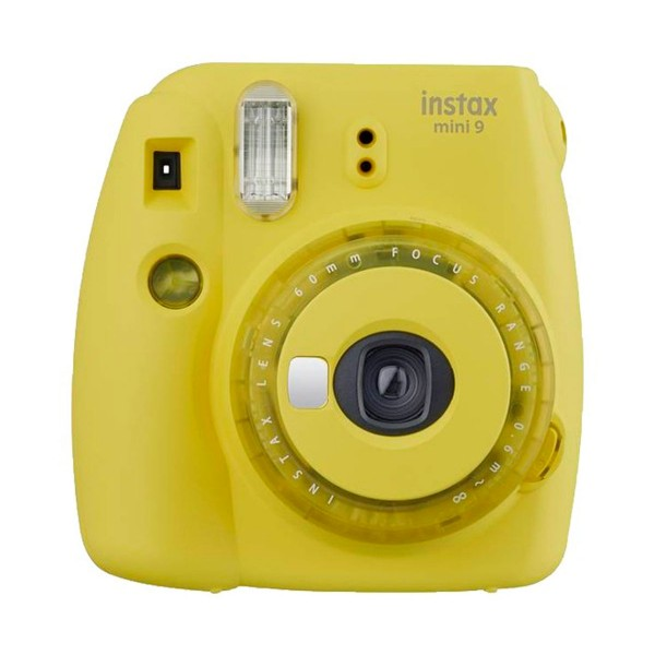 Fujifilm instax mini 9 clear amarillo cámara instantánea con flash
