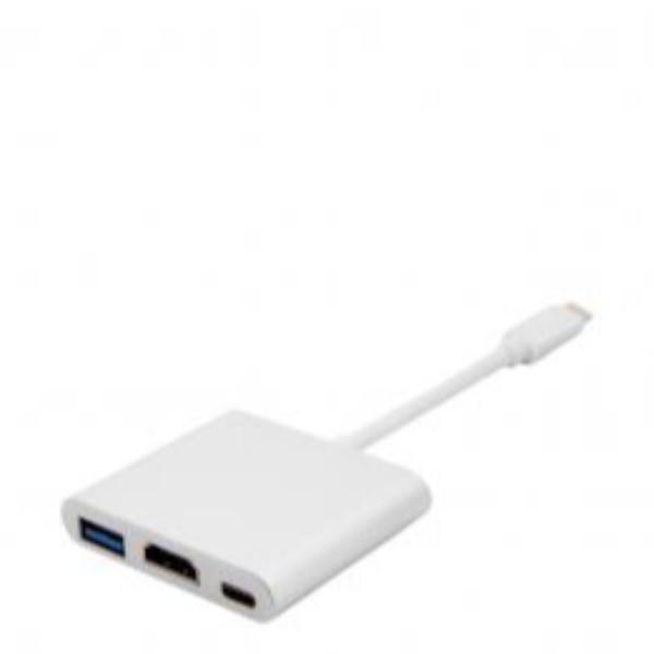 Adaptador Unotec de USB-C a USB 3.0, HDMI y USB-C