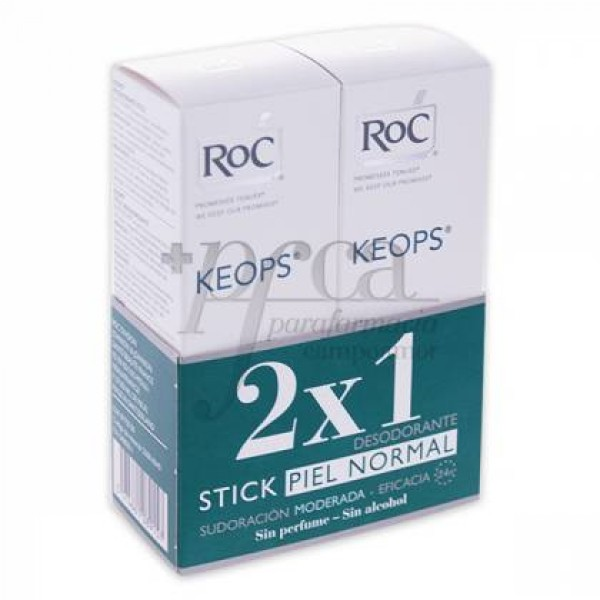 ROC KEOPS DESODORANTE STICK 2X40ML PROMO