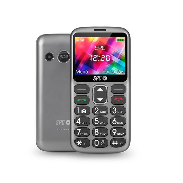 Spc 2320t fortune titanium teléfono móvil senior dual sim 2.4'' con base de carga
