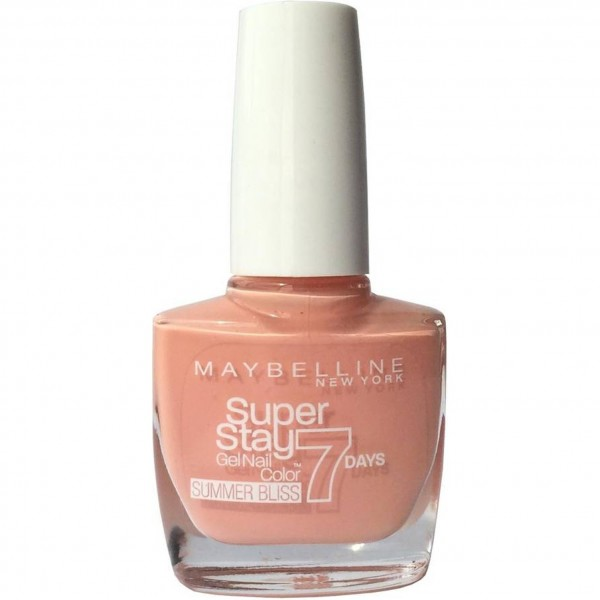 Maybelline superstay 7days nail lacquer 873 sun kissed + quitaesmalte 1u.