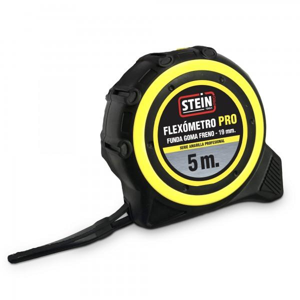 Flexometro stein pro amarillo 5m.19mm.