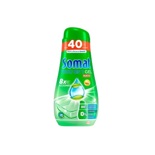 Somat gel lavavajillas Verde,  40 lavados