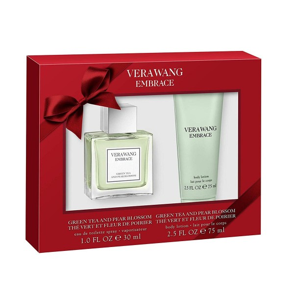 Vera wang embrace green tea and pear blossom eau de toilette 30ml + locion corporal perfumada 75ml