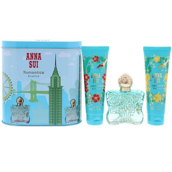 Anna sui romantica exotica eau de toilette 50ml + locion corporal perfumada 90ml + gel de baño 90ml